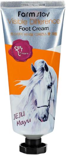 Farmstay Visible Difference Foot Cream Jeju Mayu крем для ног с лошадиным маслом (100 мл)