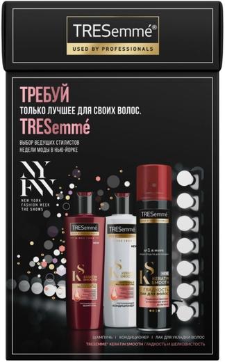 Tresemme Keratin Smooth подарочный набор (шампунь + кондиционер + лак для волос 710 мл)