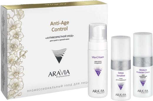 Аравия Professional Anti-Age Control Антивозрастной Уход набор для сухой и зрелой кожи лица (пенка + тоник + крем 460 мл)