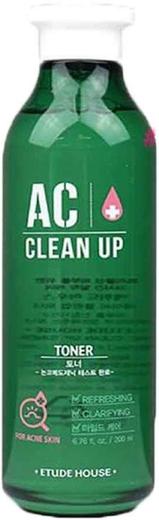 Etude House AC Clean up Toner тонер для проблемной кожи лица (200 мл)