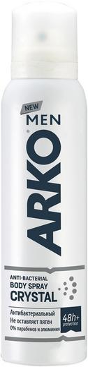 Арко Men Crystal дезодорант спрей антибактериальный (150 мл)