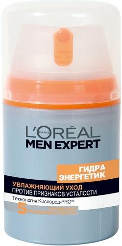 Лореаль Men Expert Гидра Энергетик Гуарана+Витамин С увлажняющий уход против 5 признаков усталости (50 мл)