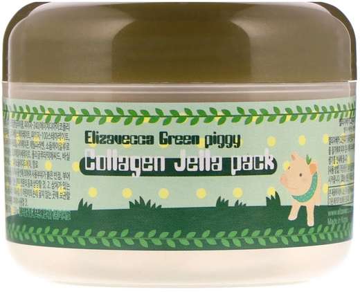 Elizavecca Green Piggy Collagen Jella Pack лифтинг-маска для лица с коллагеном (100 мл)
