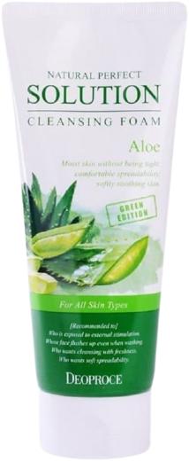 Deoproce Natural Perfect Solution Cleansing Foam Aloe пенка для умывания с экстрактом алоэ (170 мл)