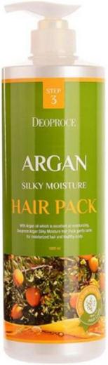 Deoproce Argan Silky Moisture Hair Pack маска для волос с аргановым маслом (1 л)
