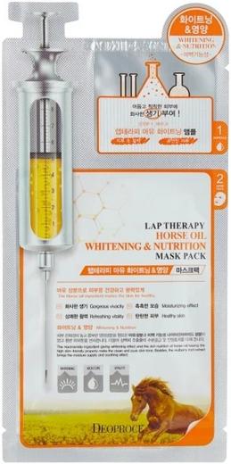 Deoproce Lap Therapy Horse Oil Whitening & Nutrition Mask Pack маска-сыворотка питательная с лошадиным маслом (25 мл)