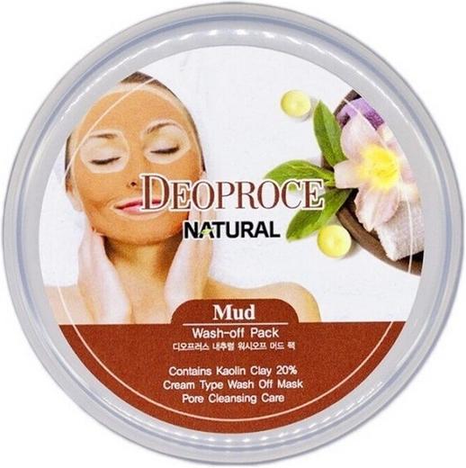 Deoproce Natural Mud Wash-Off Pack маска очищающая смываемая глиняная (100 г)