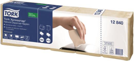 Tork Xpressnap Natural Advanced N4/N12 салфетки диспенсерные натуральные (40 пачек в упаковке)