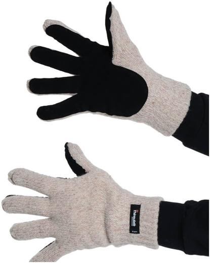 Перчатки шерстяные со спилковыми накладками Союзспецодежда Айсер (спилок кожевенный класс вязки 7)