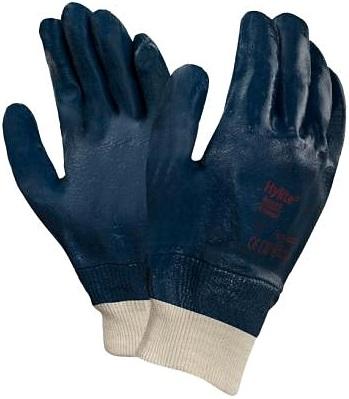 Перчатки трикотажные Ansell Hylite 10 (интерлочный хлопок нитрил полный облив)