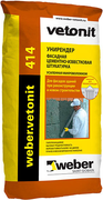 Вебер Ветонит 414 Unirender цементно-известковая штукатурка с волокном