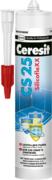 Ceresit CS 25 SilicofleXX затирка-герметик силиконовая для стыков