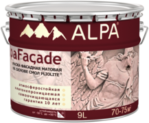 Alpa AlpaFacade краска фасадная матовая на основе смол Pliolite