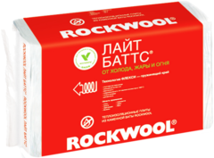 Rockwool Лайт Баттс легкая гидрофобизированная теплоизоляционная плита