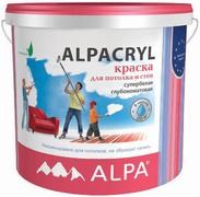 Alpa Alpacryl краска для потолка и стен супербелая