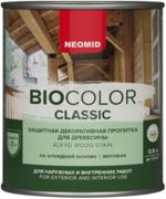 Неомид Bio Color Classic защитная декоративная пропитка для древесины