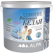 Alpa Lumiere роскошно белая краска для стен и потолков