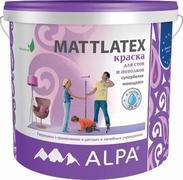 Alpa Mattlatex краска для стен и потолков супербелая моющаяся