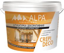 Alpa Crepi Deco штукатурка декоративная сверхпрочная атмосферостойкая