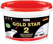 Пуфас Gold Star 2 краска акрилатная супербелая глубокоматовая