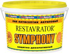 Финкраска Симфония Restavrator лак-антисептик акриловый защитно-декоративный