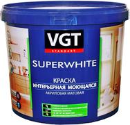 ВГТ ВД-АК-1180 Superwhite краска интерьерная моющаяся акриловая матовая