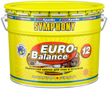 Финкраска Симфония Euro-Balance 12 акрилатная краска для стен и потолков