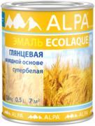 Alpa Ecolaque эмаль на водной основе супербелая