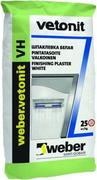 Вебер Ветонит VH шпаклевка цементная белая финишная влагостойкая