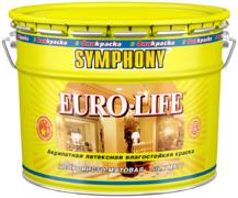 Финкраска Симфония Euro-Life акрилатная латексная влагостойкая краска