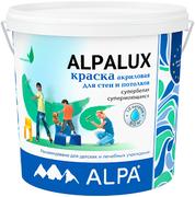 Alpa Alpalux краска акриловая для стен и потолков супербелая
