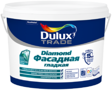 Dulux Trade Diamond Фасадная Гладкая матовая водно-дисперсионная краска для фасадных поверхностей