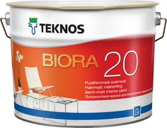 Текнос Biora 20 полуматовая краска для внутренних работ