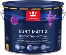 Тиккурила Евро Матт 3 Абсолютно Матовая интерьерная краска для стен и потолка