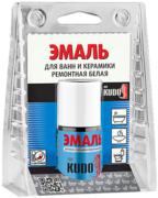 Kudo эмаль для ванн и керамики ремонтная белая с кисточкой