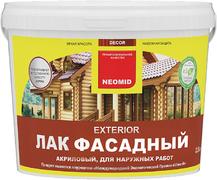 Неомид Exterior лак фасадный акриловый для наружных работ