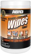 Салфетки профессиональные влажные для инструментов Abro Cleaning & Conditioning Wipes Tools