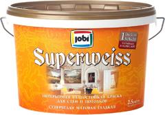 Jobi Superweiss интерьерная влагостойкая краска гладкая супербелая акриловая