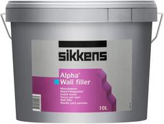Sikkens Wood Coatings Alpha Wall Filler финишная шпатлевка для стен на основе водной эмульсии