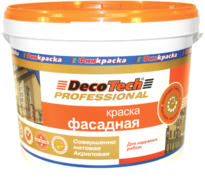 Decotech Professional краска фасадная акриловая
