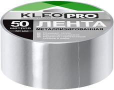 Клейкая лента для монтажа воздуховодов металлизированная Kleo Pro