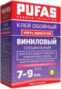 Пуфас Vinyl Indikator клей обойный виниловый специальный с розовым индикатором
