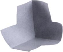 Основит Акваскрин HB 120/2 внутренний угол гидроизоляционной ленты армированной