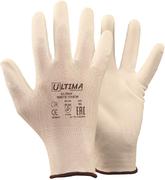 Перчатки трикотажные нейлоновые с полиуретановым покрытием Ultima 620 White Touch