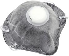 Полумаска фильтрующая с клапаном и угольным слоем Исток 1ФК
