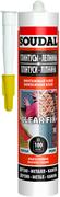 Soudal Clear Fix Плинтусы Лепнина монтажный клей влагостойкий