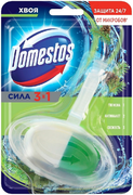 Доместос Сила 3 в 1 Хвоя блок гигиенический (подвеска) для унитаза