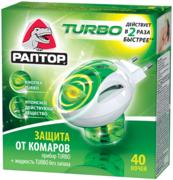 Раптор Turbo 40 Ночей жидкость от комаров