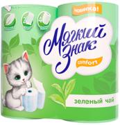 Бумага туалетная Мягкий знак Comfort Зеленый Чай