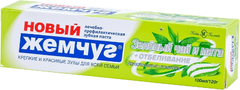 Новый Жемчуг Зеленый Чай и Мята+Отбеливание зубная паста